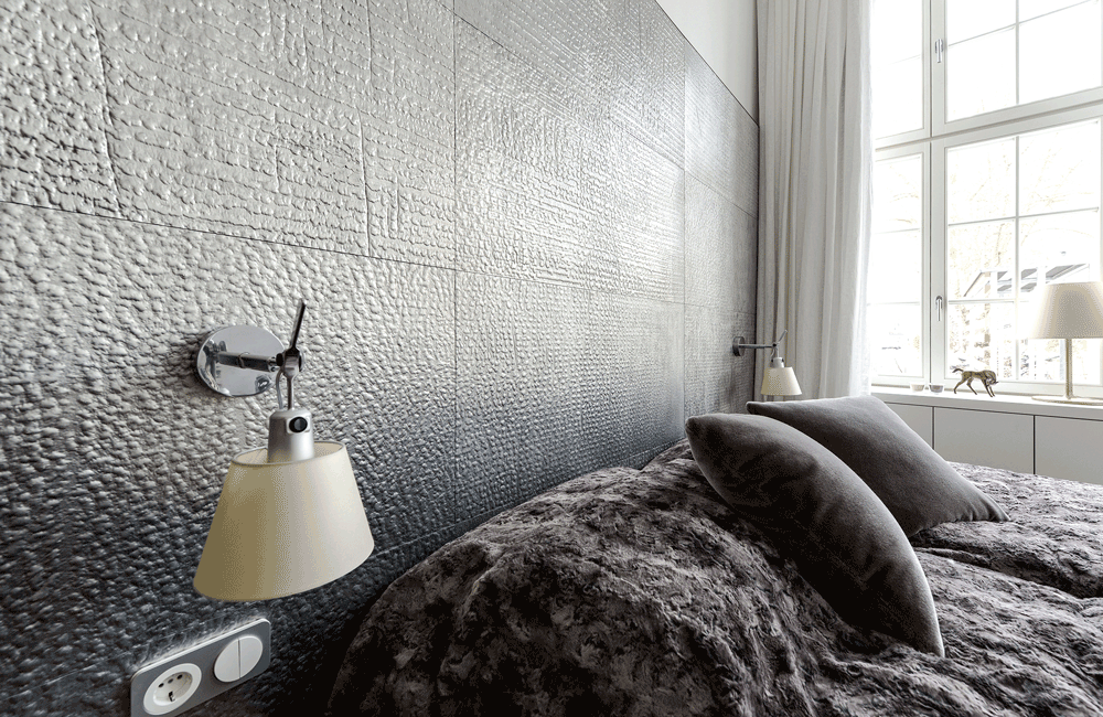 Bedroom with stylecast tiles